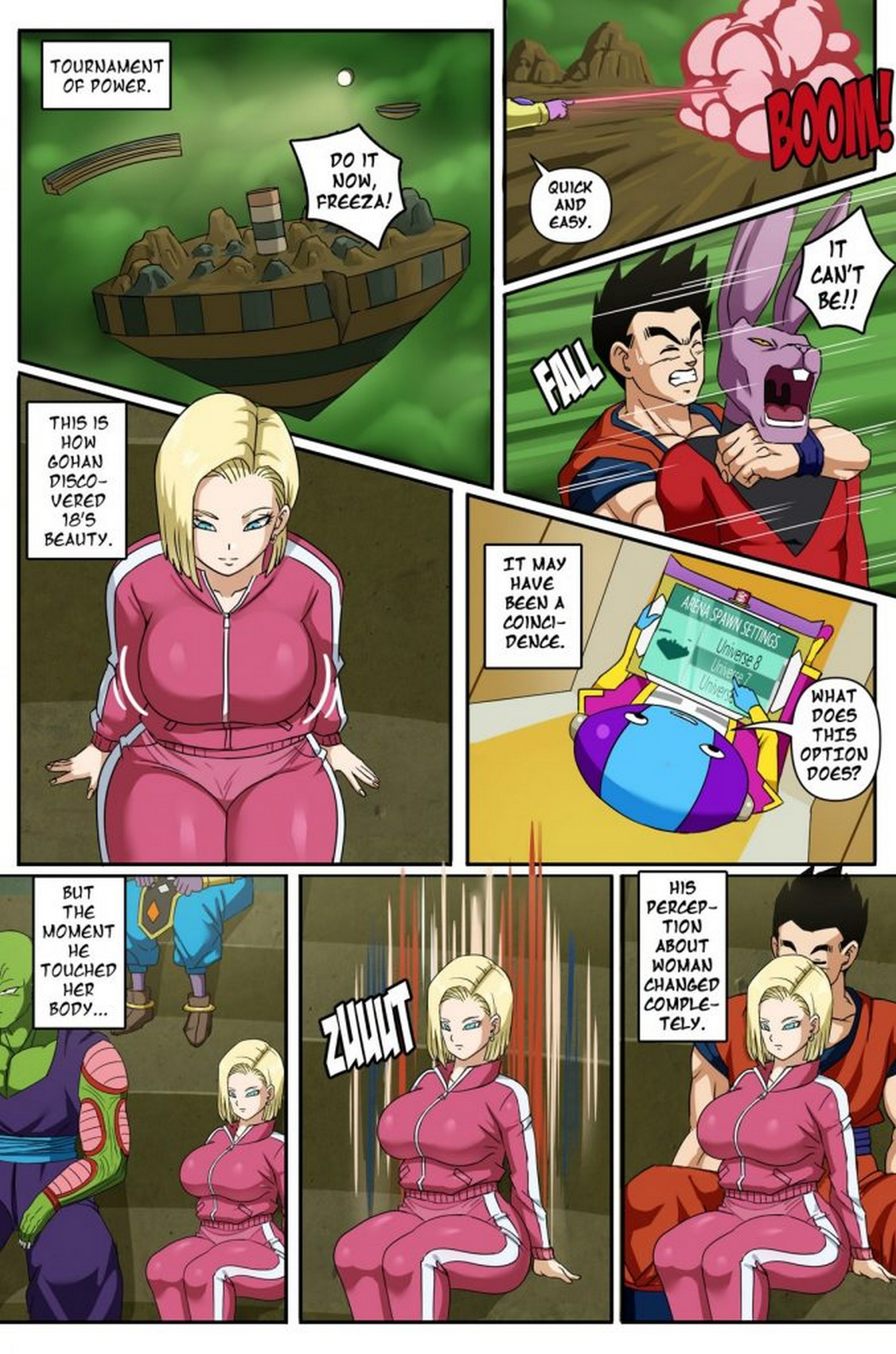Androide 18 Gohan Pink Pawg 02