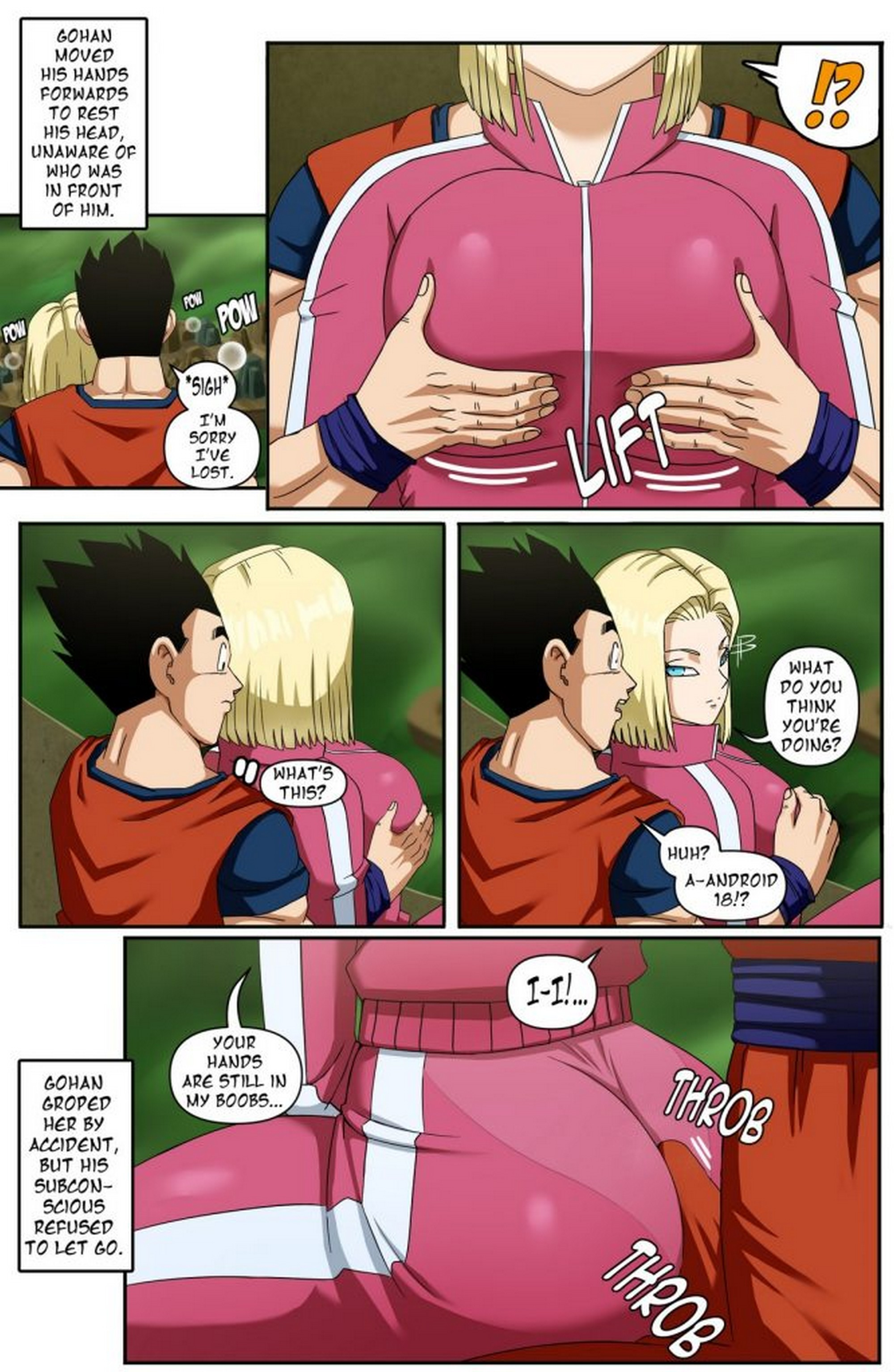 Androide 18 Gohan Pink Pawg 03